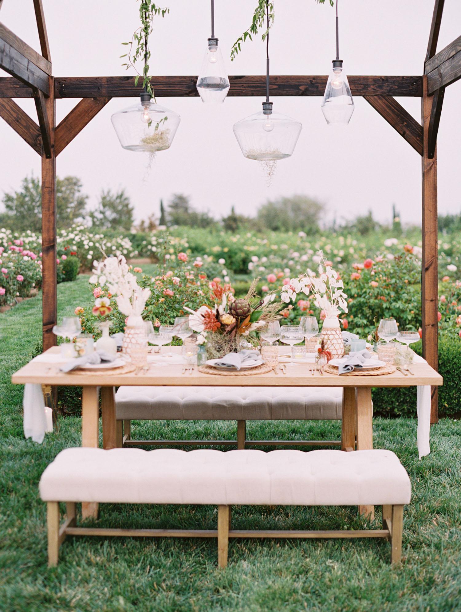 свадьба в розах