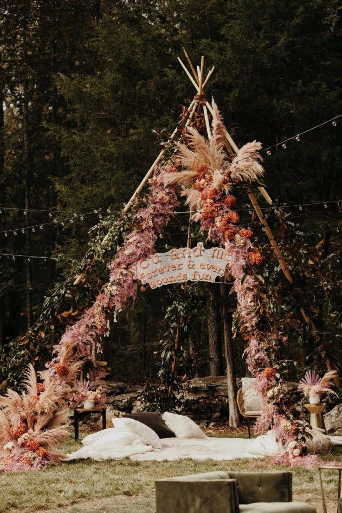 свадебный шатер бохо
