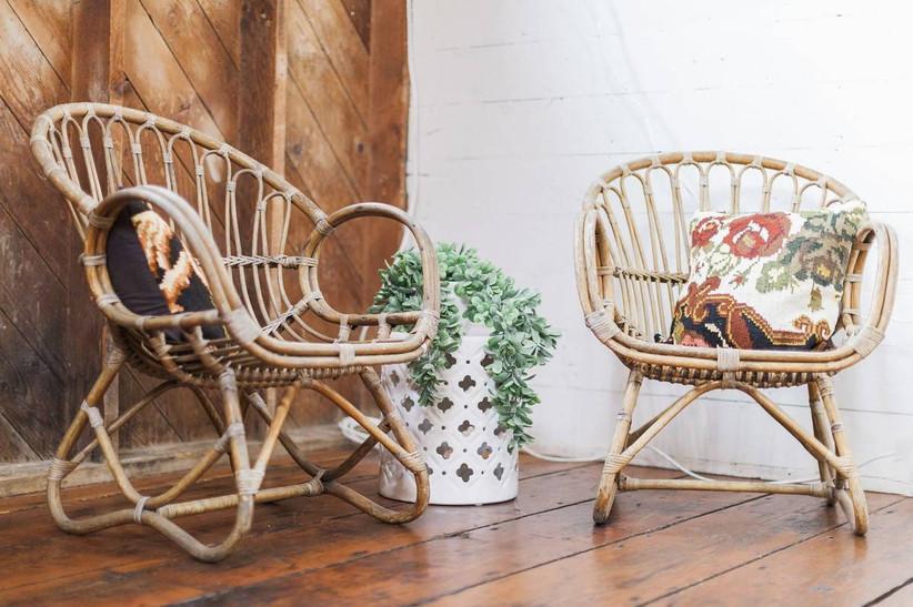стулья из ротанга свадьба бохоj