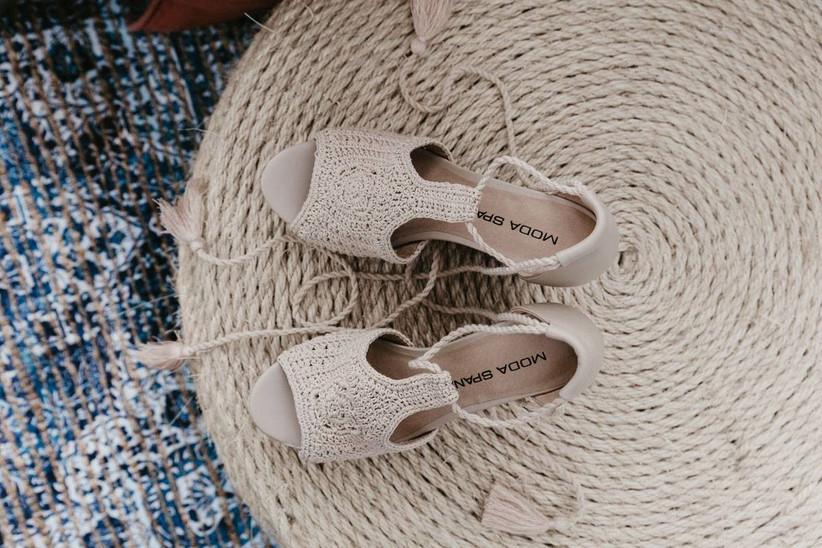 свадебные туфли бохо