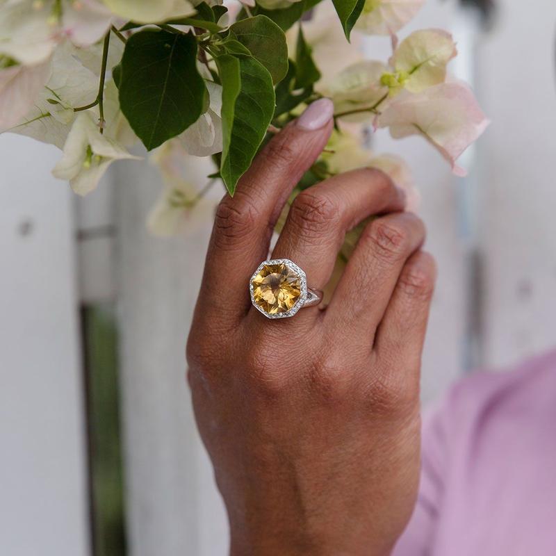 обручальное кольцо с цитрином