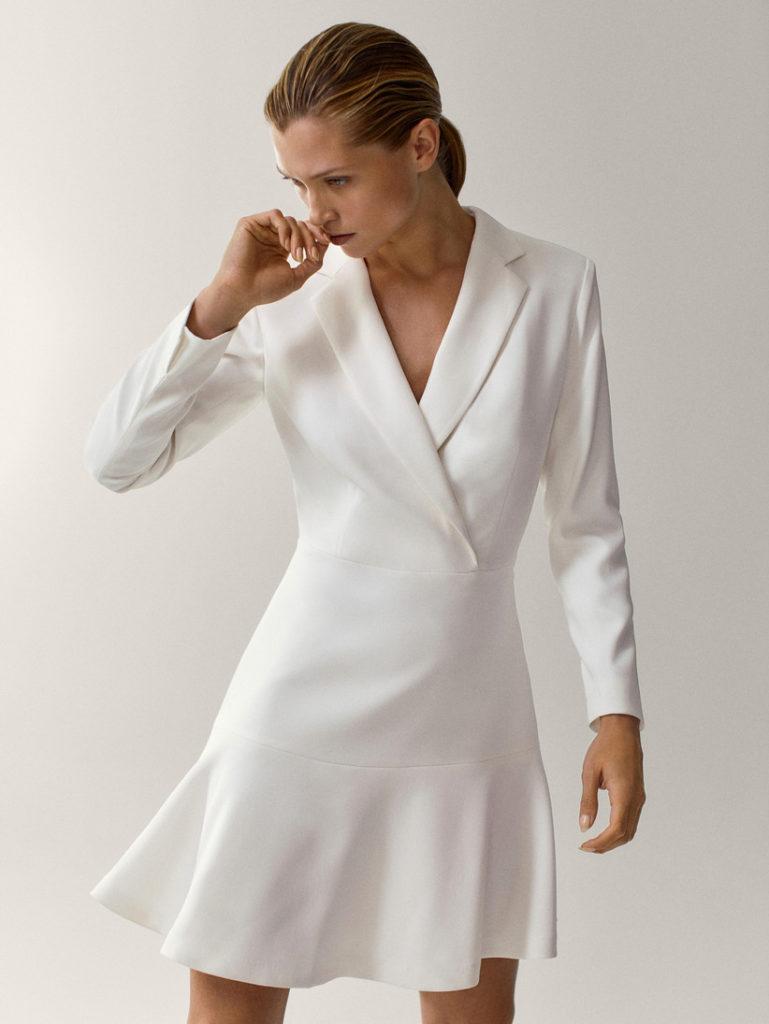 свадебное платье с воланом