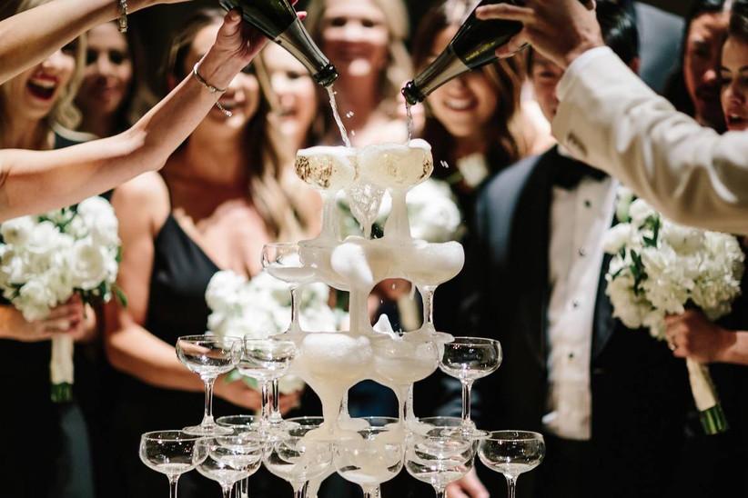 шампанское для свадьбы в стиле ар деко