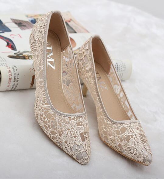свадебные кружевные туфли