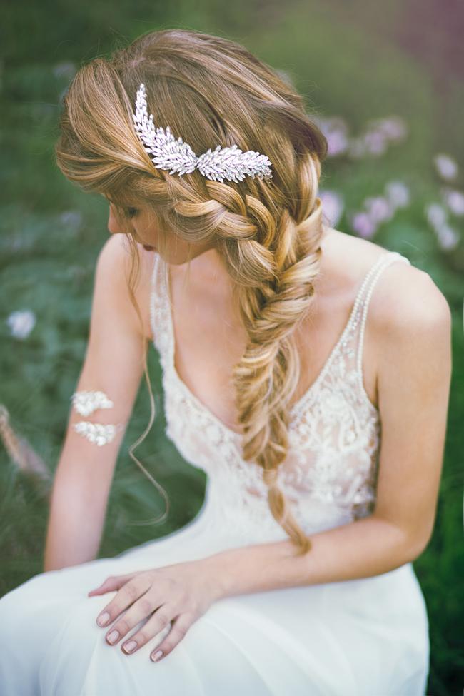 свадебная прическа коса русалки