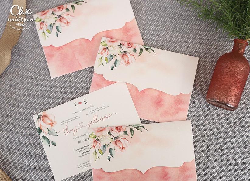 свадебные приглашения акварель