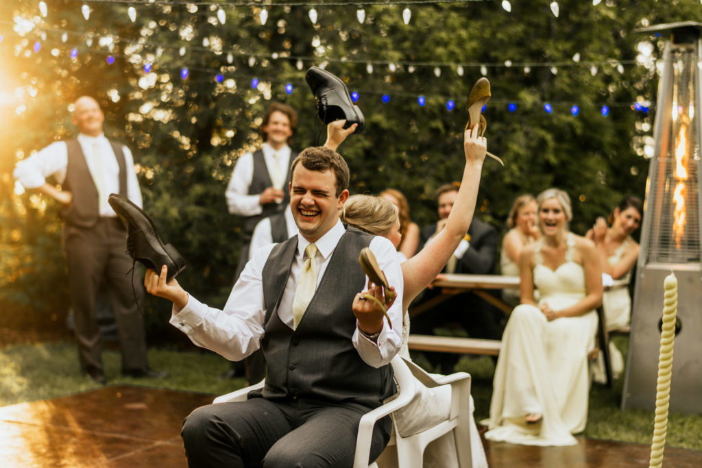 игра свадебная обувь
