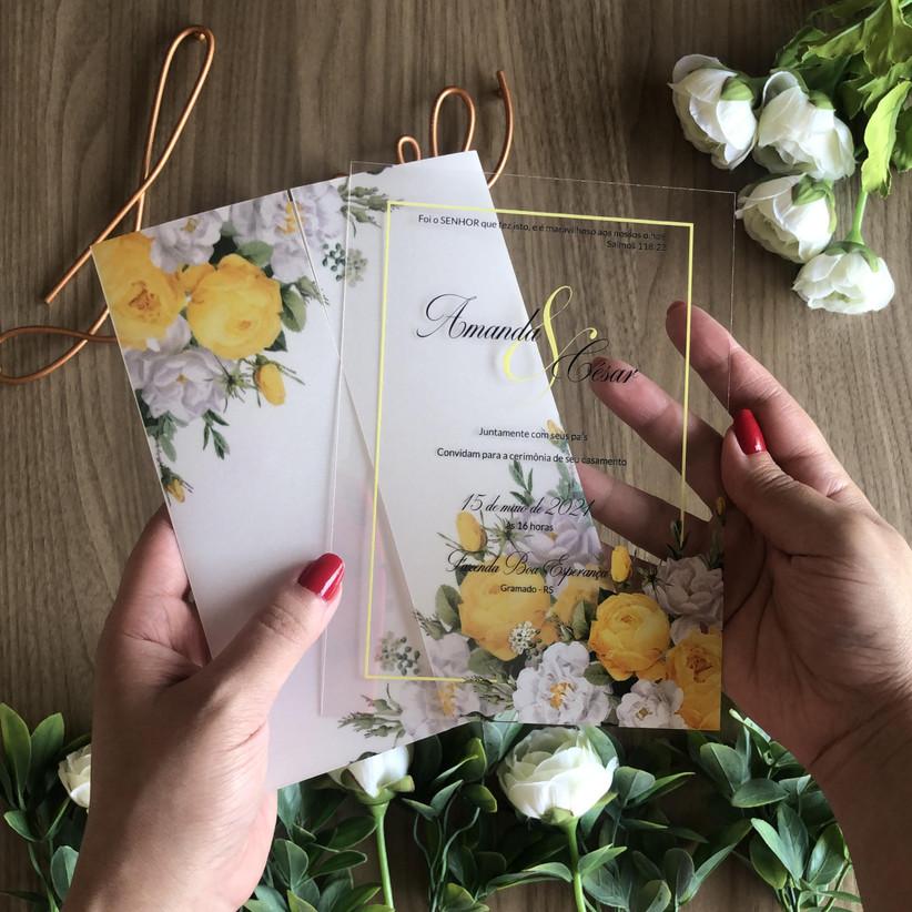 акроловое свадебное приглашение