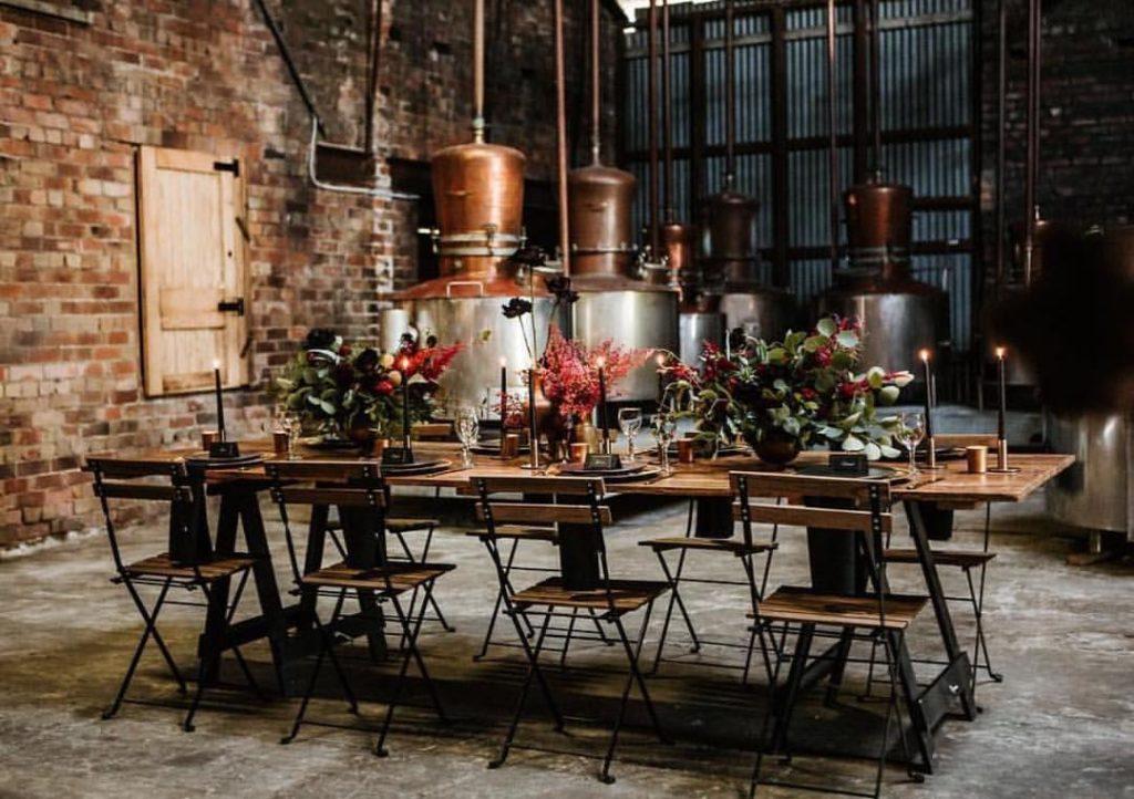 свадьба в индустриальном стиле