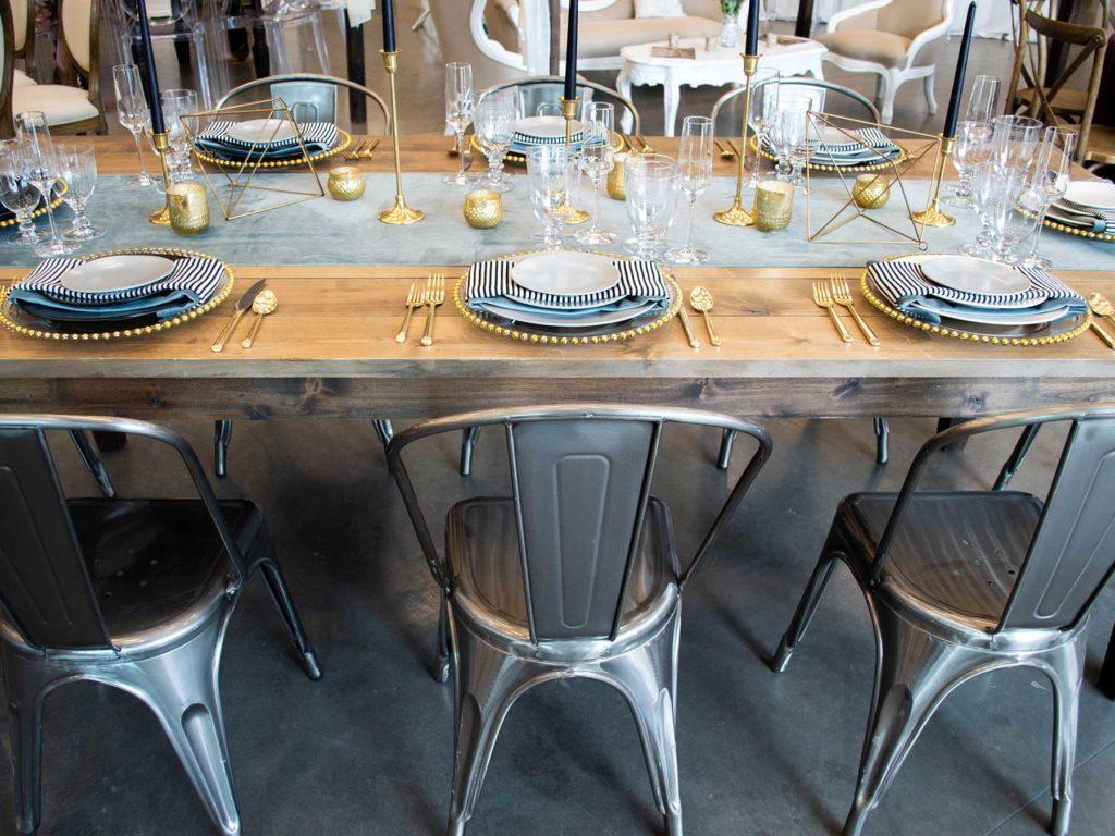 стулья на свадьбу в индустриальном стиле