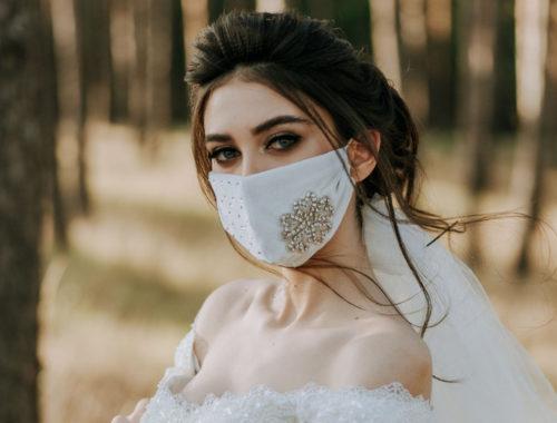 свадебный макияж под маской