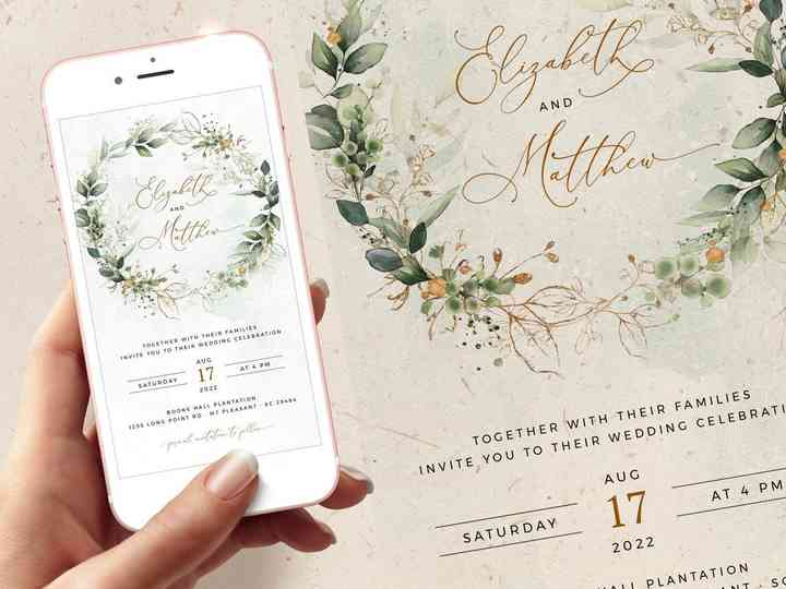 он лайн свадебное приглашение