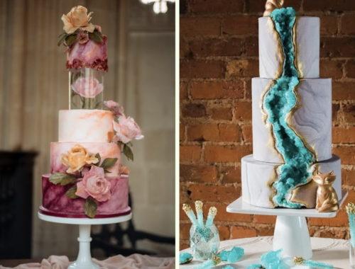 тренды свадебных тортов