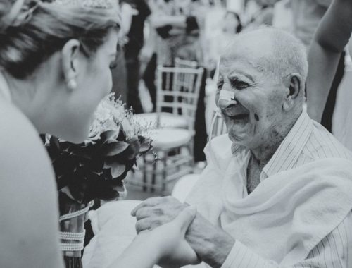 дедушка и бабушка на свадьбе